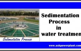 Sedimentation Process in water treatment