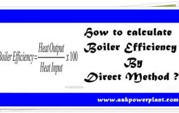 How to calculate boiler efficiency by Direct Method