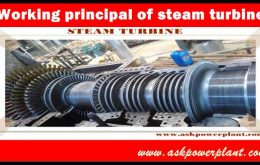 Working principal of steam turbine