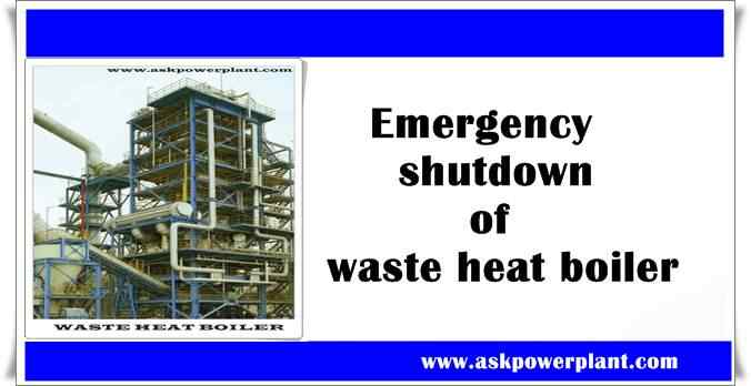 Emergency shutdown of waste heat boiler