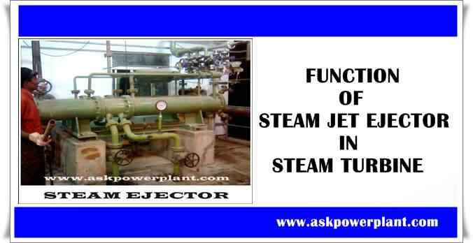 FUNCTION OF STEAM JET EJECTOR IN STEAM TURBINE
