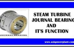 STEAM TURBINE JOURNAL BEARING AND IT'S FUNCTION