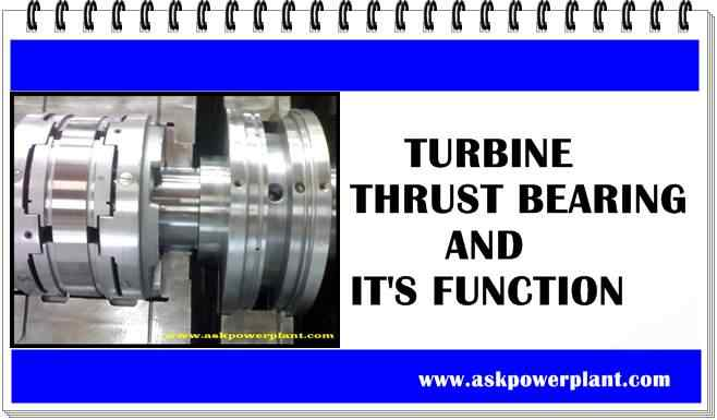 TURBINE THRUST BEARING AND IT'S FUNCTION
