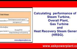 Calculating performance of Steam Turbine,Overall Plant,Gas Turbine and Heat Recovery Steam Generator (HRSG).-min