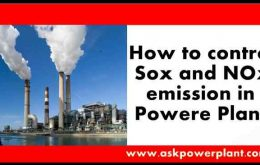 How to control Sox and NOx emission in power plant