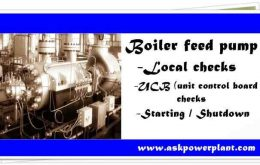 BOILER FEED PUMP PR-CHECKS SAFE STARTING AND SHUT DOWN OF PUMP