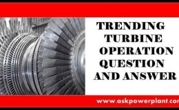 TRENDING TURBINE OPERATION QUESTION ANSWER
