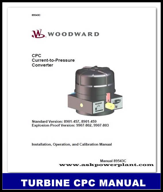 TURBINE CPC CURRENT TO PRESSURE CONVERTER MANUAL