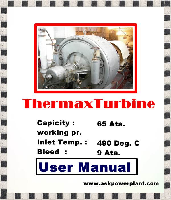 USER MANUAL 8 MW THERMAX TURBINE