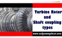Turbine Rotor and shaft coupling types