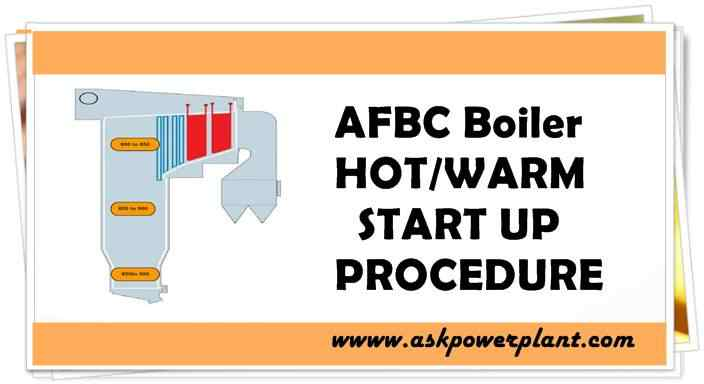 afbc boiler hot or warm startup procedure