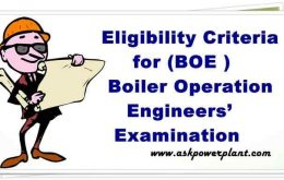Eligibility Criteria for Boiler Operation Engineers' Examination