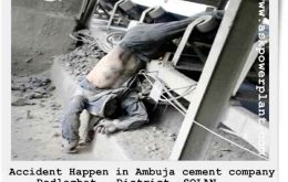 accident happen in ambuja cement Dadlaghat District -SOLANon conveyor belt