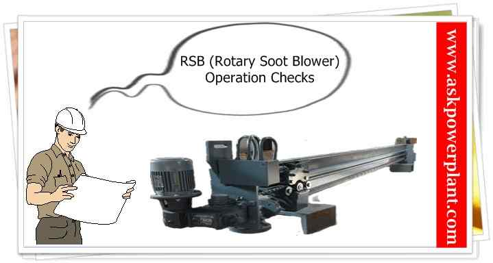 ROTARY SOOT BLOWER OPERASTION CHECKS