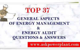 TOP 30 GENERAL ASPECTS OF ENERGY MANAGEMENT & ENERGY AUDIT QUESTION & ANSWERS