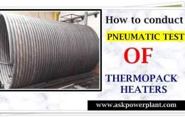 how to conduct pneumatic test of thermopack heaters