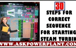 30 STEPS FOR CORRECT SEQUENCE FOR STARTING STEAM TURBINE