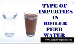 TYPE OF IMPURTIES INTO BOILER FEED WATER